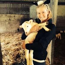 Steffi and lamb